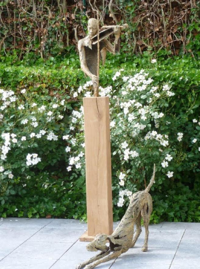 Van den Abeele - Violoniste - Chien - en jardin