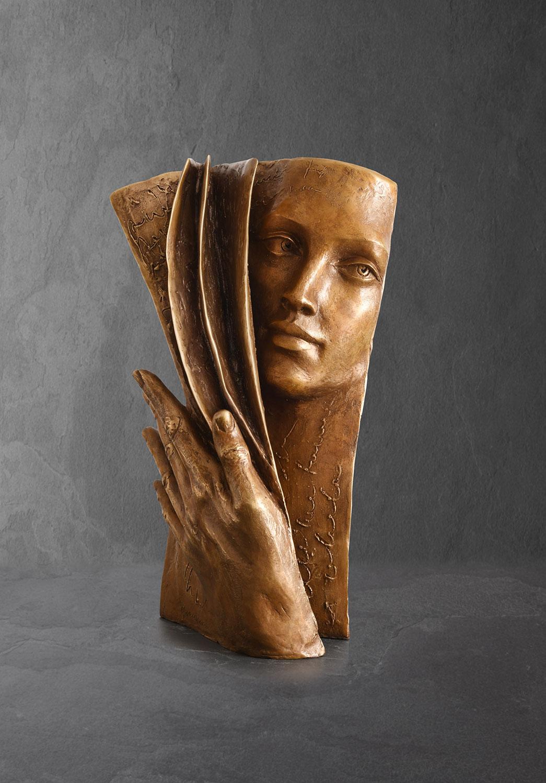 Arrière Plan, Paola Grizi, sculpture bronze, © Casart