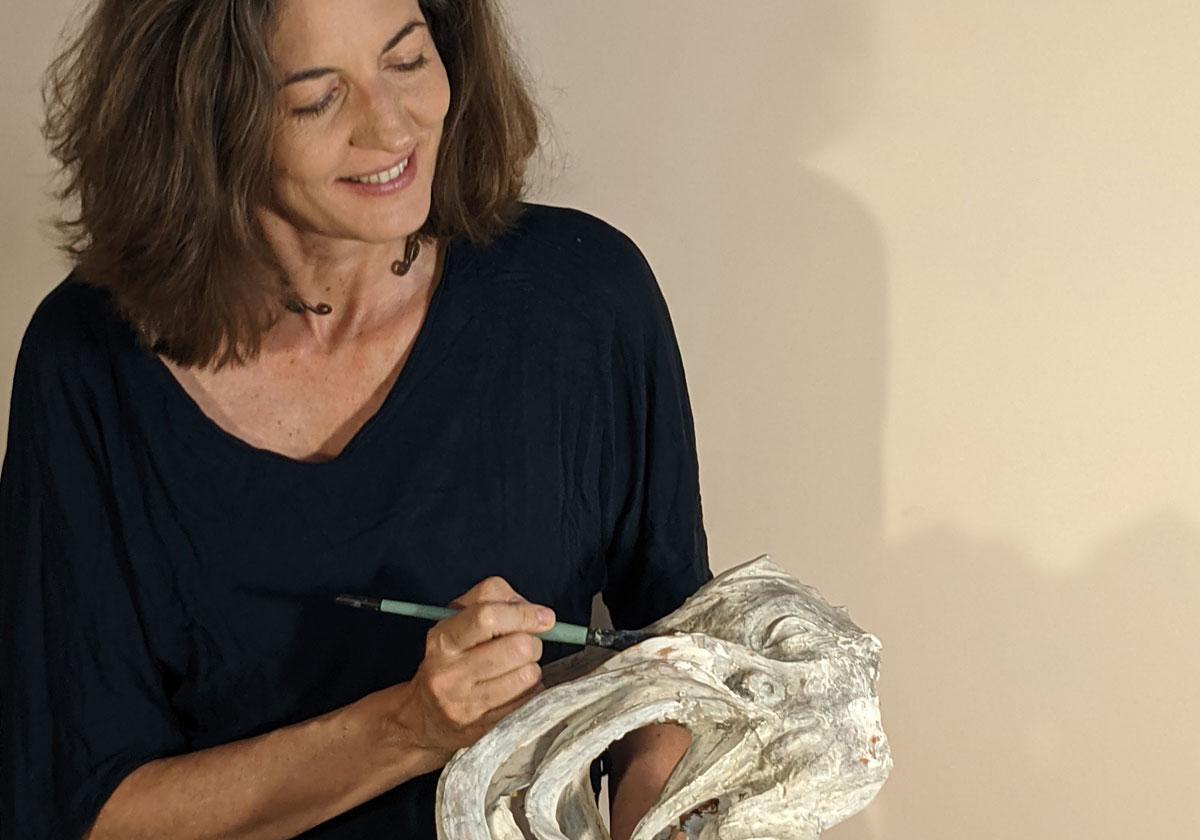 Paola Grizi en atelier - © Casart