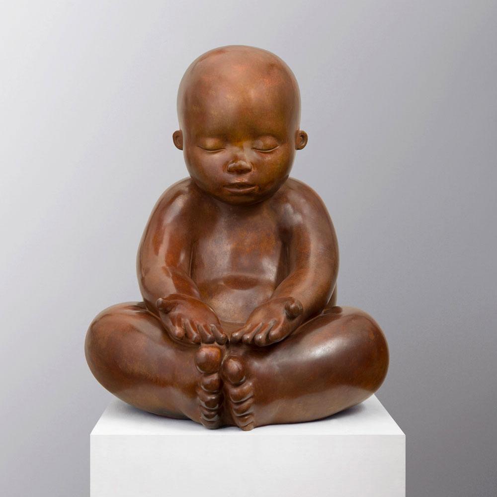 Open Hands - sculpture bronze - Mariela Garibay - © Casart