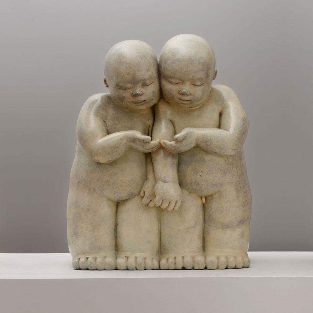 The Nest - sculpture bronze - Mariela Garibay - © Casart