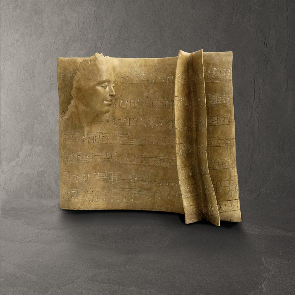 Partition - Paola Grizi - sculpture bronze - © Casart