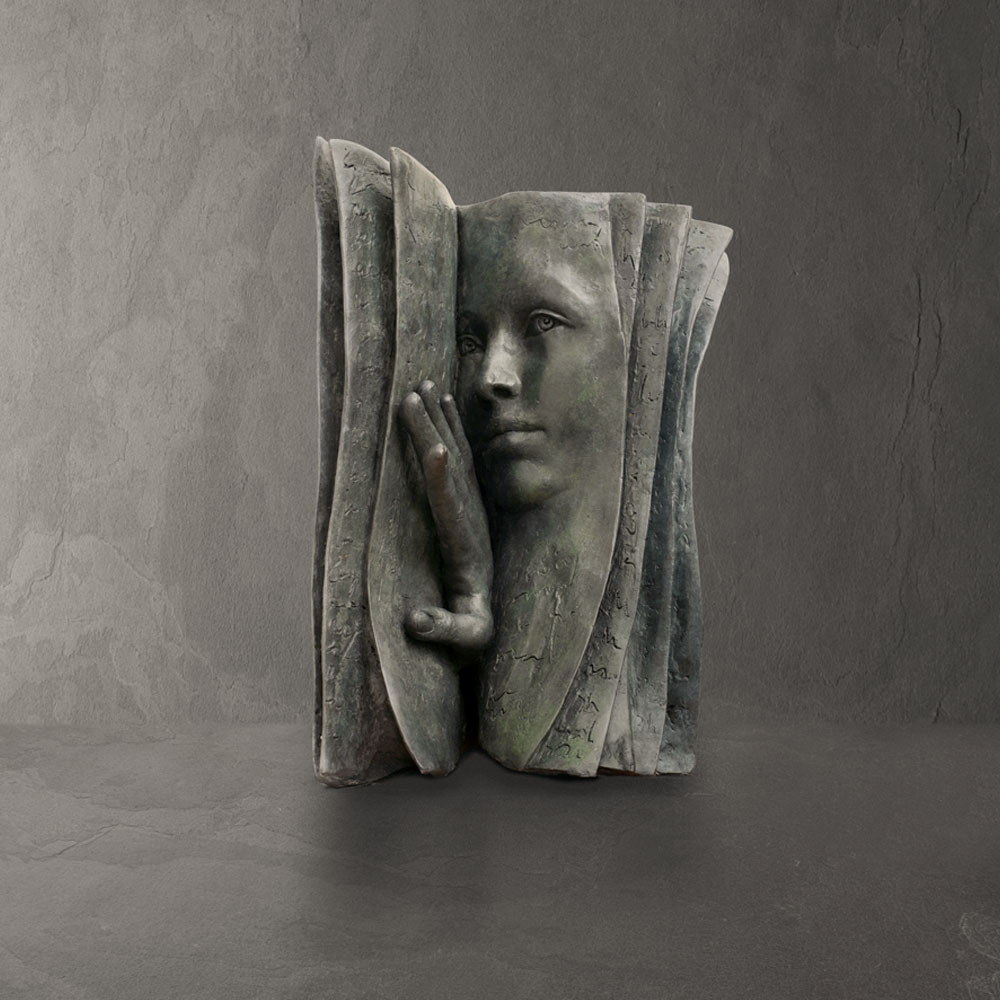 Who is the reader? - Paola Grizi - sculpture bronze - © Casart