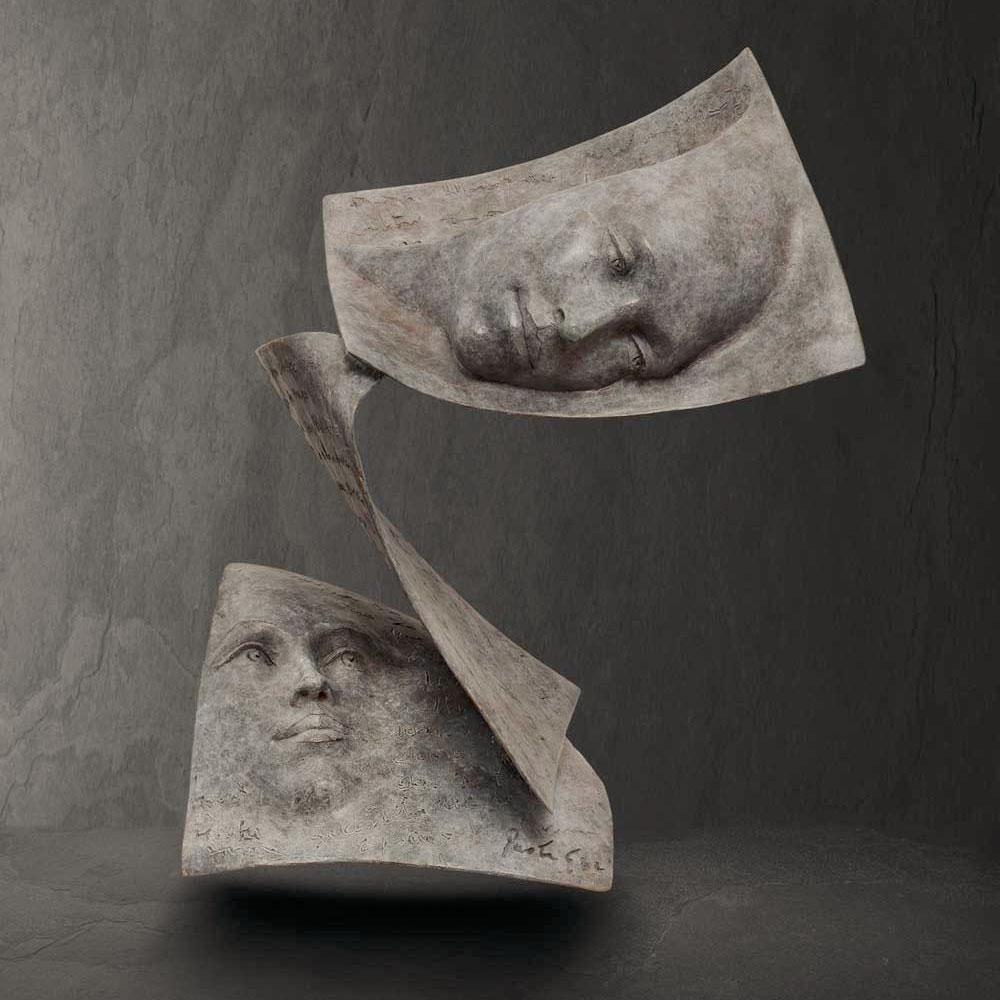 Tris - Paola Grizi - sculpture bronze - © Casart